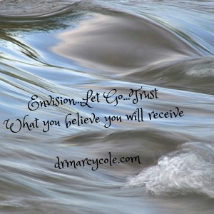 Envision...Let Go...TrustWhat you believe you will receive